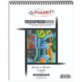 PonART Painting Mix Blok 170 gr 25x35 cm 12 Yaprak