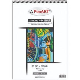 PonART Painting Mix Blok 170 gr 35x50 cm 12 Yaprak