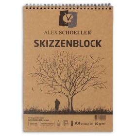 Alex Schoeller Kraft Eskiz Blok A4 Üstten Spiralli 90 gr. 60 yp.