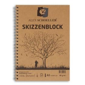 Alex Schoeller Kraft Eskiz Blok A5 Yandan Spiralli 90 gr. 60 yp.