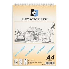 Alex Schoeller Spralli Eskiz Çizim Blok 90 gr. A4 60 Sayfa