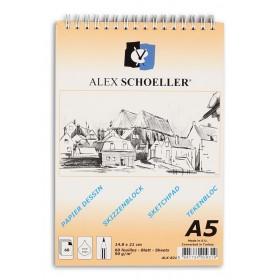 Alex Schoeller Spralli Eskiz Çizim Blok 90 gr. A5 60 Sayfa
