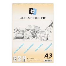 Alex Schoeller Spralli Eskiz Çizim Blok 90 gr. A3 60 Sayfa