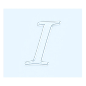 Pleksi Ayna Görünüm 4cm Harf I