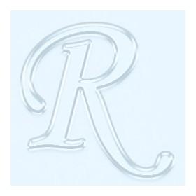 Pleksi Ayna Görünüm 4cm Harf R