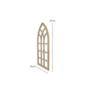 Hint Penceresi Duvar Süsü 35x16cm Ahşap Obje
