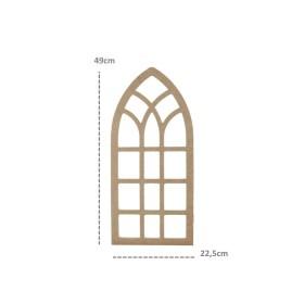 Hint Penceresi Duvar Süsü 49x22cm Ahşap Obje