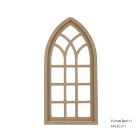 Boyutlu Hint Penceresi 74x36cm Ahşap Obje