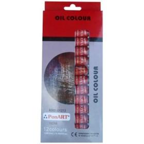 PonART Troya Yağlı Boya Seti 12 Renk x 12ml