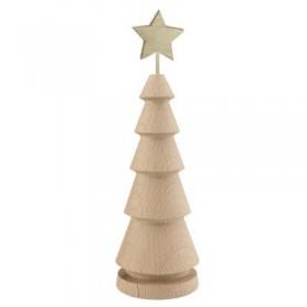 Yılbaşı Çamı Torna Ağaç Yıldız Süslü 20cm