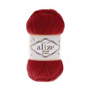 Alize Cotton Gold Hobby Amigurumi El Örgü İpi 50gr - Kırmızı