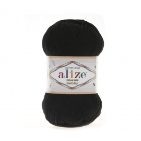 Alize Cotton Gold Hobby Amigurumi El Örgü İpi 50gr - Sİyah
