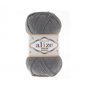Alize Cotton Gold Hobby Amigurumi El Örgü İpi 50gr - Kömür Grisi