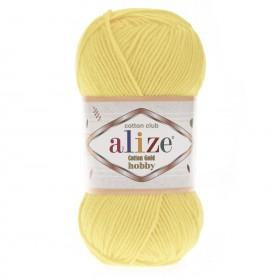 Alize Cotton Gold Hobby Amigurumi El Örgü İpi 50gr - Açık Sarı
