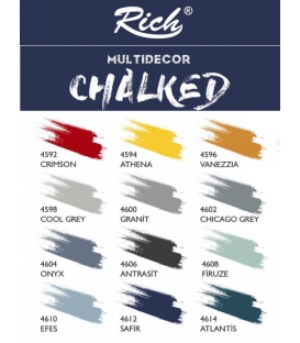 Rich Multi Decor Chalked Akrilik 4602 CHiCAGO GREY - 500cc
