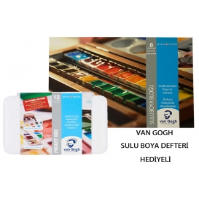 Talens Van Gogh Tablet Sulu Boya 15 (12+3) Renk Defterli