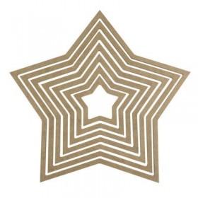 Yıldız Makrome Kasnağı Ahşap 7'li Takım