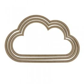 Bulut Makrome Kasnağı Ahşap 3'lü Takım