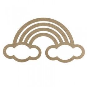 Gökkuşağı/Bulut Makrome Kasnağı Ahşap