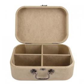 Bölmeli Valiz Kutu Küçük 25x21x9cm Ahşap obje