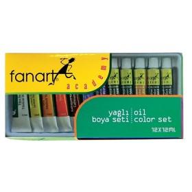 Fanart Academy Yağlı Boya Seti 12 Renk x 12ml