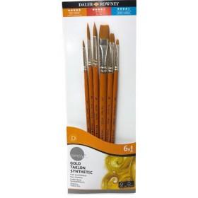 Daler Rowney Gold Taklon Synthetic 6'lı Fırça Seti