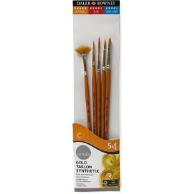 Daler Rowney Gold Taklon Synthetic 5'lı Fırça Seti - 500