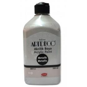 Artdeco Metalik Akrilik Boya GÜMÜŞ 3722 - 500ml