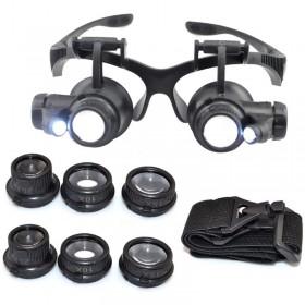 Büyüteçli Gözlük 4 Farklı Cam Seçeneği Led Işıklı