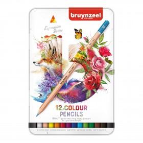 Bruynzeel Expression Colour Kuru Kalem Boya Seti 12 Renk