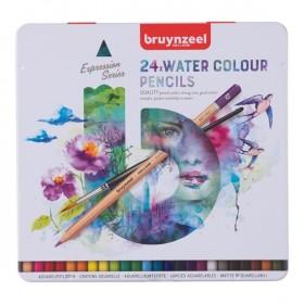 Bruynzeel Aquarelle Kuru-Sulu Kalem Boya Seti 24 Renk