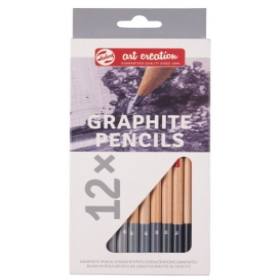 Talens Art Creation Graphite Pencils Dereceli Çizim Seti 12'li