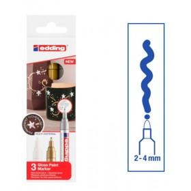 Edding Gloss Paint Marker - 3'lü - 2-4mm