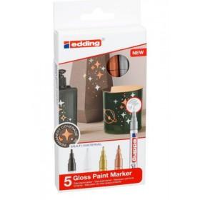 Edding 751 Gloss Paint Metalik Marker - 5'li - 1-2mm