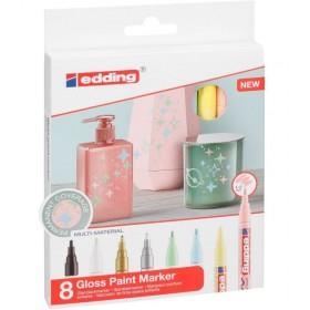 Edding Gloss Paint Marker - 8'li - 1-2mm