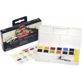 Derwent Inktense 12'Li Tablet Suluboya Seti Palet No:1 - Paınt Pan Pocket Set #1