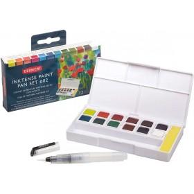 Derwent Inktense 12'Li Tablet Suluboya Seti Paınt Pan Pocket Set 2