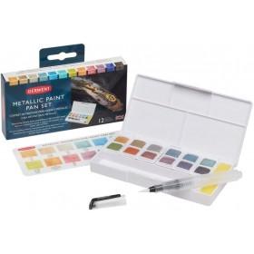 Derwent Metallic Paint 12 Pan Palette