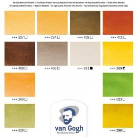 Van Gogh Profesyonel Suluboya 12 Renk Shades Of Nature Colours