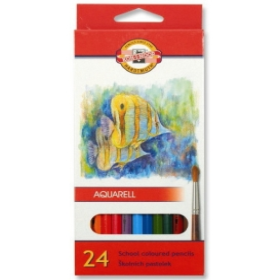 Kohinoor Set of Aquarell Coloured Pencils 3718 24 Fish