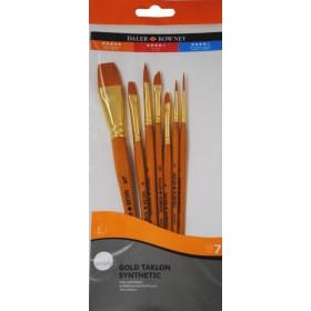 Daler Rowney Gold Taklon Synthetic 7'li Fırça Seti - 700
