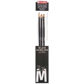 Talens Art Creation 3'lü Yağlı/Akrilik Fırça Seti M (Medium)