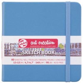 Talens Art Creation Sketchbook Lake Blue 12 x 12 cm, 140 g, 80 Yaprak