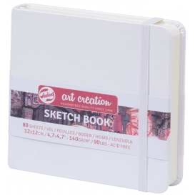 Talens Art Creation Sketchbook Beyaz 12 x 12 cm, 140 g, 80 Yaprak