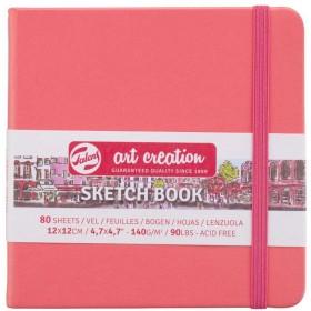 Talens Art Creation Sketchbook Mercan Kırmızısı, 12 x 12 cm, 140 g, 80 Yaprak
