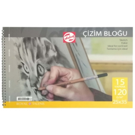 Talens Çizim Bloğu 120 gr 15 yp 25x35 cm.