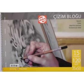 Talens Çizim Bloğu 120 gr 15 yp 35x50 cm.