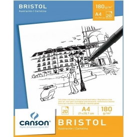 Canson Bristol Blok A4 180g