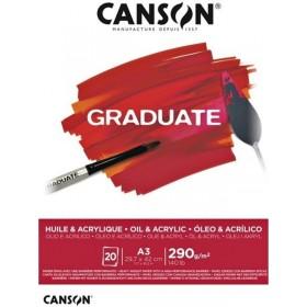 Canson Graduate Oil & Acrylic A3 30 Yaprak 290 gr