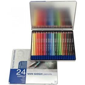 Talens Van Gogh Kuru Boya Kalemi 24 Renk Metal Kutu